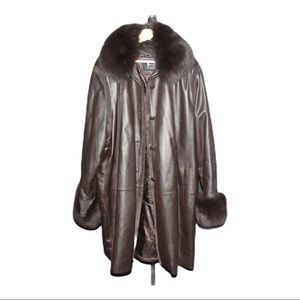 Dimitri Collection Long Leather/ Faux Neck | 4XL